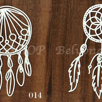 "laser Cut Chipboard ""dream catcher"" (in assortment). Scrapbooking embellishments, for card making, America, craftstore, love, romantic"
