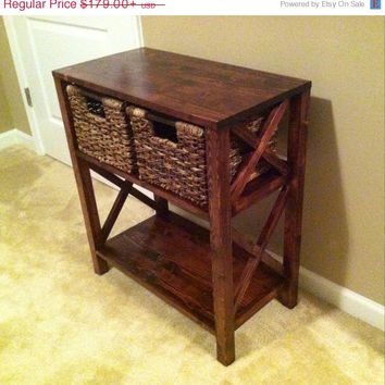 Accent Table/End Table-Pine Handcrafted Solid Wood