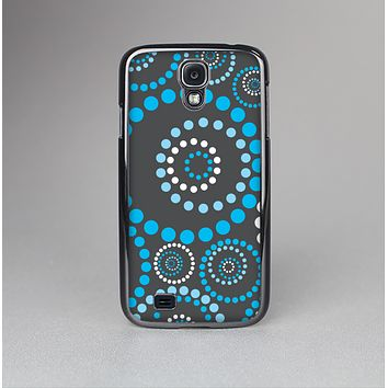 The Retro Blue Circle-Dotted Pattern Skin-Sert Case for the Samsung Galaxy S4