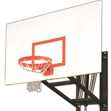 First Team WallMonster Excel Adjustable Wall Mount Basketball Hoop 72 inch Steel