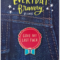 Gave My Last Fuck Pin - Enamel Ribbon Award