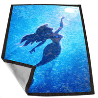 Ariel little mermaid sparkle 92e1ca41-8826-4b9c-8ba1-4c5af75c3bd4 for Kids Blanket, Fleece Blanket Cute and Awesome Blanket for your bedding, Blanket fleece *02*