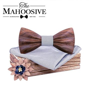 2019 Wood Wooden Bow Tie camisas mujer Floral Bowtie modis gravata tie ties for men cravate homme noeud papillon chemise femme