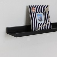 ElleHome Wausau Photo Ledge Wall Shelf, 24 L X 4 W X 2 H Inch, Espresso $19.99