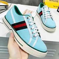 GUCCI Fashion New Stripe Running Sports Leisure Running Shoes