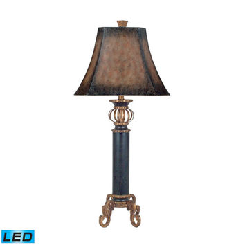 Dimond 96-634-LED Iron Footed Column Iron One Light LED Table Lamp
