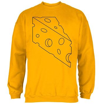 Halloween Swiss Cheese Food Costume Mens Sweatshirt