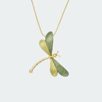 Forest Dragonfly Necklace – Lime