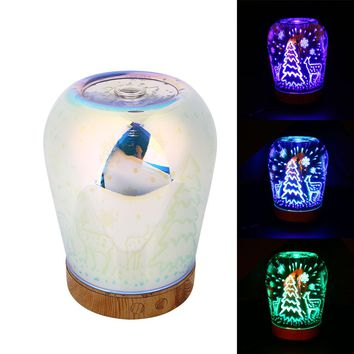 LED Night Light Bottle Ultrasonic Humidifier Essential Oil Diffuser Glass Shell