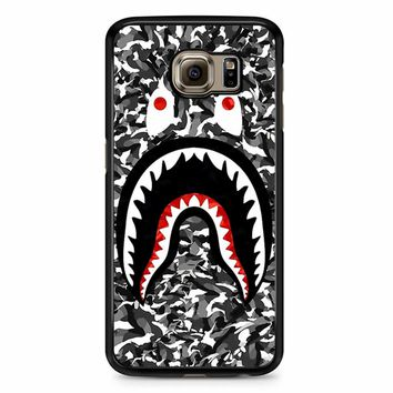 Bape Camo Shark Black Samsung Galaxy S6 Edge Plus Case