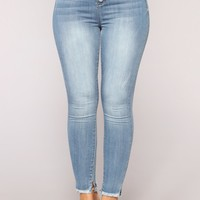 Liliana High Rise Skinny Jeans - Light Blue Wash