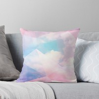 'Cotton Candy Geometric Sky - #homedecor #lifestyle #magical' Throw Pillow by Dominiquevari