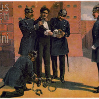 Circus Bush Harry Handcuff Houdini POSTER 9 x 14 large Magician reproduction print