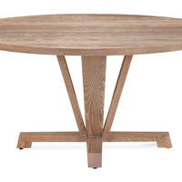 "Boylston 60"" Oak Dining Table, Café Oak"
