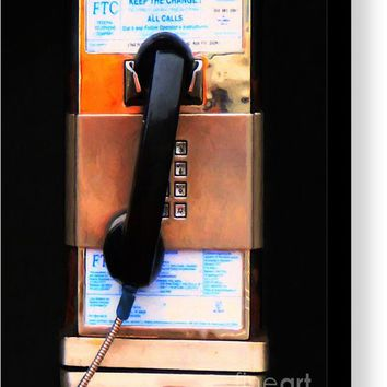 The Last Pay Phone On Earth 20150901 Painterly V2 Canvas Print