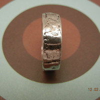 2 rings Matching Womens Men's Fine Silver Rustic Men's Wedding Band, Silver Wedding Ring, Fine Silver .999, All Sizes
