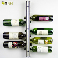 Creative Wine Rack Holders 8 - 12 Holes Home Bar Wall Grape Wine Bottle Display Stand Rack Suspension Storage Organizer