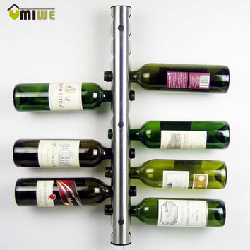 Creative Wine Rack Holders 8 - 12 Holes Home Bar Wall Grape Wine Bottle Holder Display Stand Rack Suspension Storage Organizer