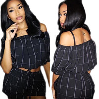 Black Long Sleeve Top and Short