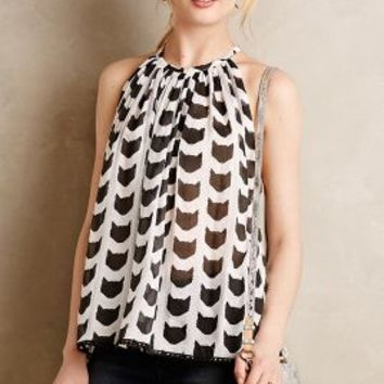 Graphic Cat Tunic by Porridge Neutral Motif