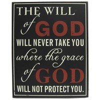 Black, White & Red The Will of God Plaque | Shop Hobby Lobby