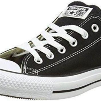 VONR3I Unisex Converse Chuck Taylor All Star Low Top Black Sneakers - 8 B(M) US Women / 6 D(M