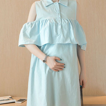 Maternity Clothing Long Dresses for Pregnant Women Breastfeeding Women's Maternity Clothing Fashion Nursing Home Clothing Mother