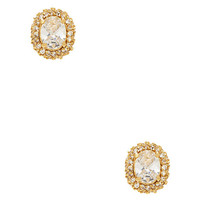 Kate Spade Sweet Sparkle Studs Clear/Gold ONE