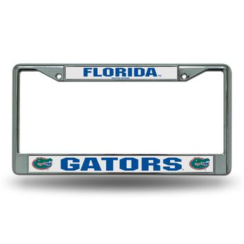 Licensed Official NCAA License Plate Frame Chrome by Rico KO_19_1