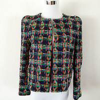 NWT ZARA MULTICOLOR WOVEN FABRIC JACKET Size S