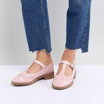 ASOS DESIGN Maxime Flat Shoes at asos.com