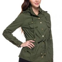 Street Trends Military Utility Jacket in Olive | Sincerely Sweet Boutique