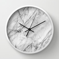 Marble Wall Clock by Patterns And Textures
