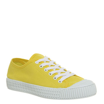 Office Frangipane Canvas Trainers Yellow Canvas - Hers trainers