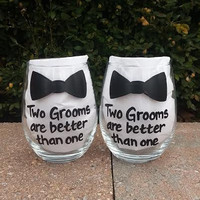 Gay Wedding Two Grooms Are Better Than One with bowtie
