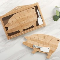 Farmhouse Pig Cheeseboard Gift Set