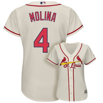 Majestic St. Louis Cardinals Yadier Molina Cool Base Replica Jersey - Women's, Size: