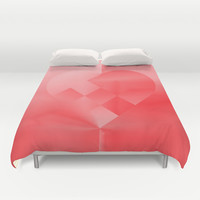 Danish Heart Love Duvet Cover by Gréta Thórsdóttir  #love #heart #girly #kidsroom #red #scarlet #ombre #pattern #bedroom