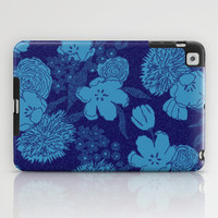 Sketchy Floral: Purple Blue iPad Case by Eileen Paulino