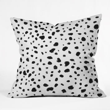 Rebecca Allen Miss Monroes Dalmatian Throw Pillow