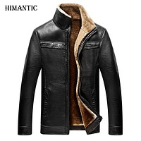 Jacket men casual winter thicken warm leather jackets male jackets and coats winter down coat