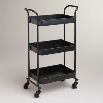 Espresso Austin Metal 3-Tier Cart - World Market