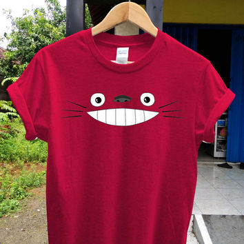 Totoro face t shirt Totoro shirt , game shirt, potograph printed style shirt, digital shirt unisex adult