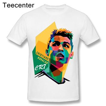 100% Cotton Colorful Leisure Cristiano Ronaldo Real Madrid T Shirt New Arrival Men's Soft T-Shirts