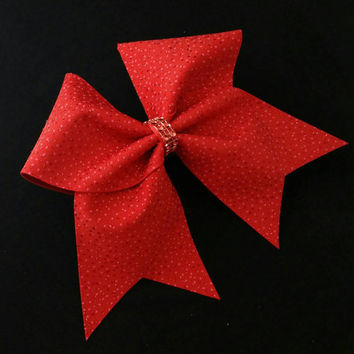 Cheer bow, Red glitter cheer bow, red cheer bow, cheerleading bow, cheerleader bow,cheerbow, softball bow, pop warner cheer bow, dance bow