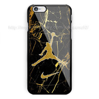 Best New Nike Jordan Marble Gold Print On Case Cover iPhone 6/6s/6s+/7/7+/8/8+