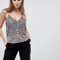 ASOS DESIGN Cami Top With Sequin Embellishment at asos.com