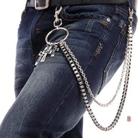 Trousers Wallet Key Chain Cross Pendant Pant Jean Gothic Rock Hip Hop Punk