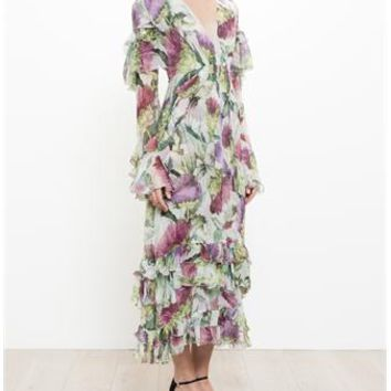 GUCCI | Floral Print Silk Dress | brownsfashion.com | The Finest Edit of Luxury Fashion | Clothes, Shoes, Bags and Accessories for Men & Women