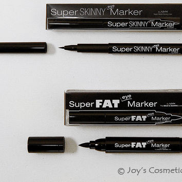 2 NYX Super Skinny + Fat  Marker (Liner) Combo Set !!! *Joy's Cosmetics*